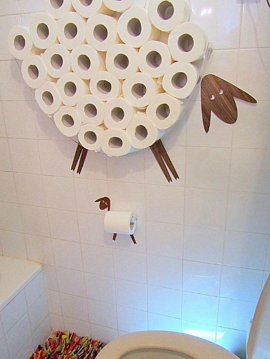 Хранение туалетной бумаги.