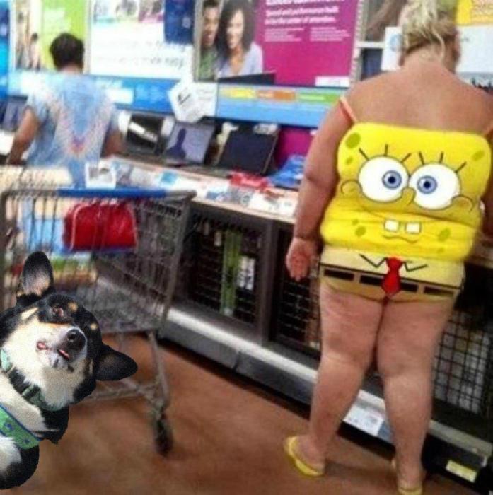 Спанч Боб выбрался в магазин.