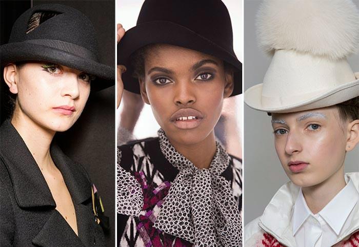 Стильные женские шляпы трибли и котелки.