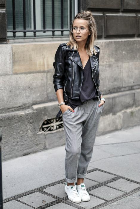 Куртка из натуральной или искусственной кожи. | Фото: Pinterest.