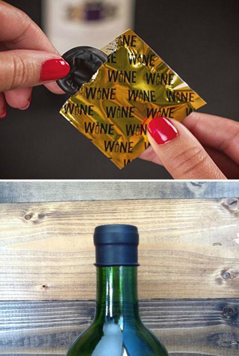 Крышка для начатой бутылки вина.