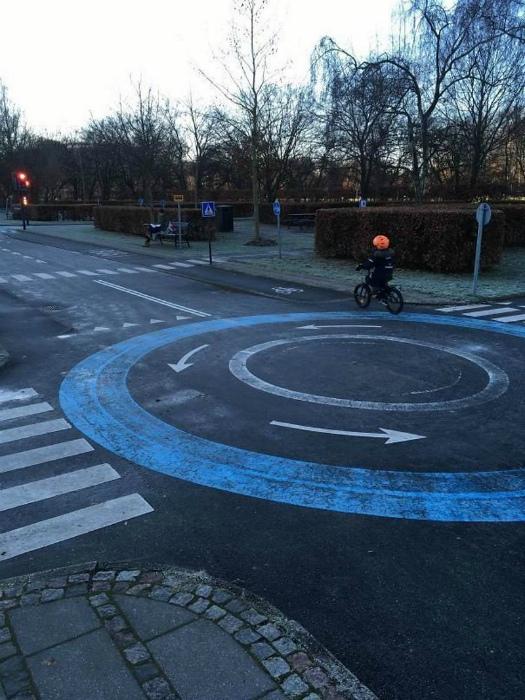 Площадка для велосипедистов.