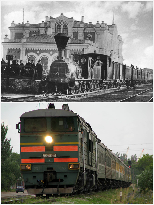 Эволюция поезда.