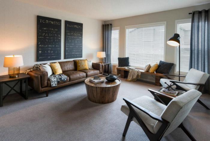 Спокойный интерьер современной гостиной.