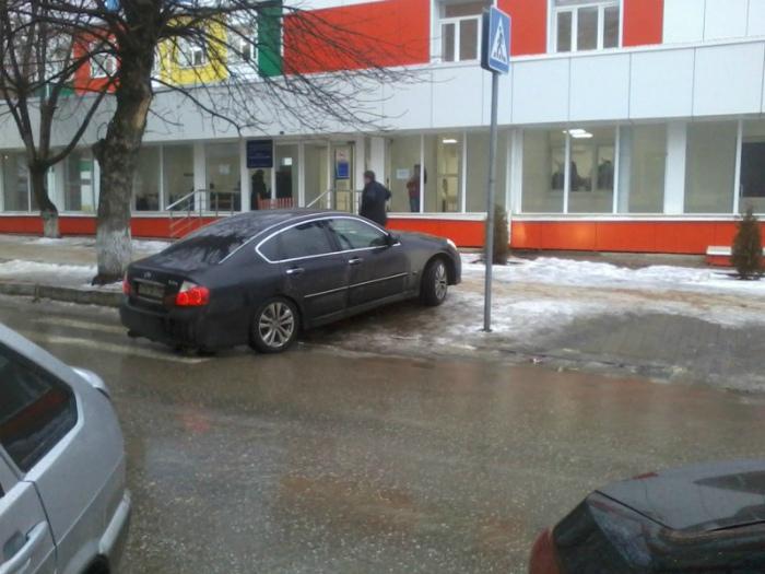Парковка на пешеходном переходе.