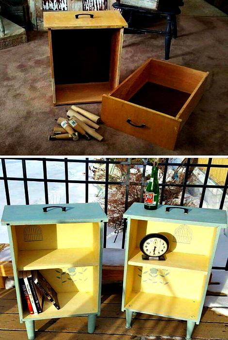 Тумбы открытого типа. | Фото: Homebnc.