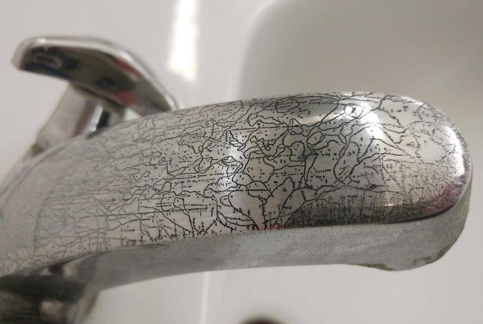 Царапины, как произведение искусства. | Фото: Reddit.