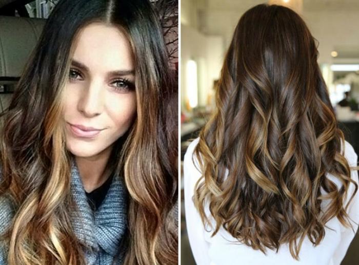 Техника, которая предполагает окрашивание тонких прядей в светлый оттенок. Такое окрашивание создаст эффект солнечных бликов и подчеркнет основной цвет волос.