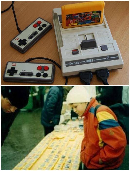 Игровая приставка Dendy 8-bit.