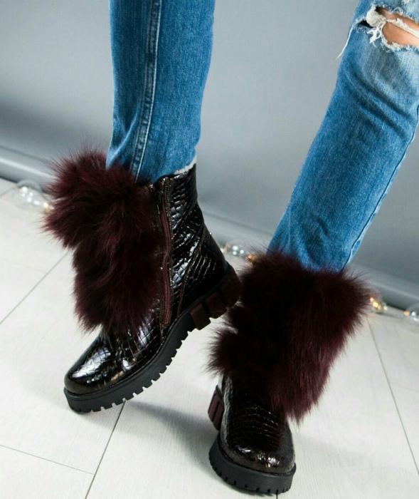 Особенности ношения лаковой обуви зимой. | Фото: Клубок.