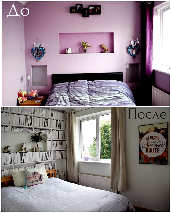 Трансформация спальни при помощи цвета.
