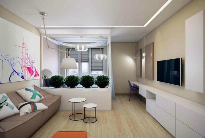 Однокомнатная квартира в стиле модерн.