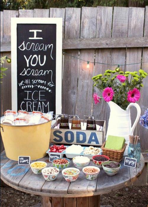 Вечеринка с мороженым.