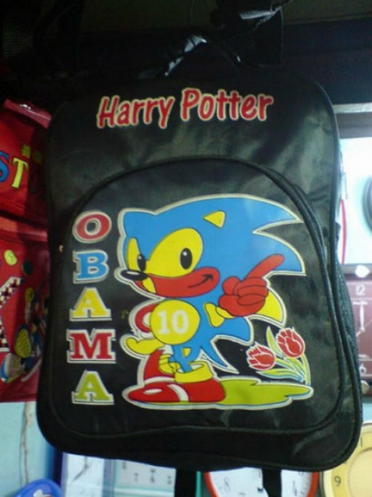 Забавный рюкзак.
