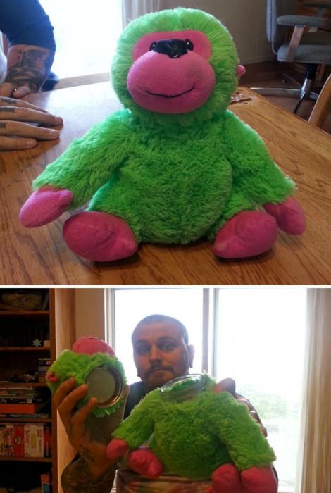 Мягкая игрушка-тайник. | Фото: Pinterest.