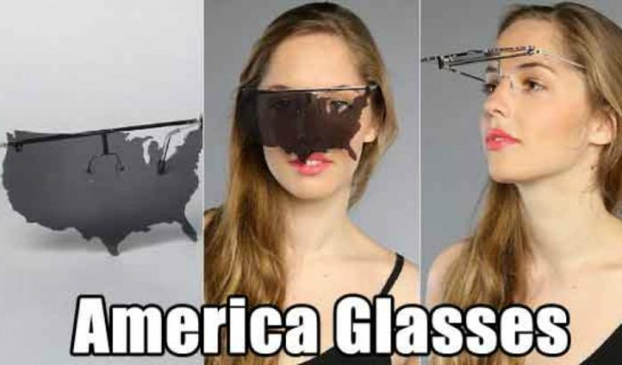 Очки в виде американского континента для настоящих патриотов.