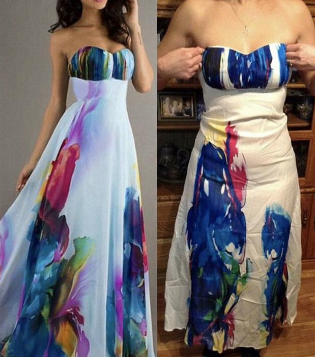 Платье с акварельным принтом.
