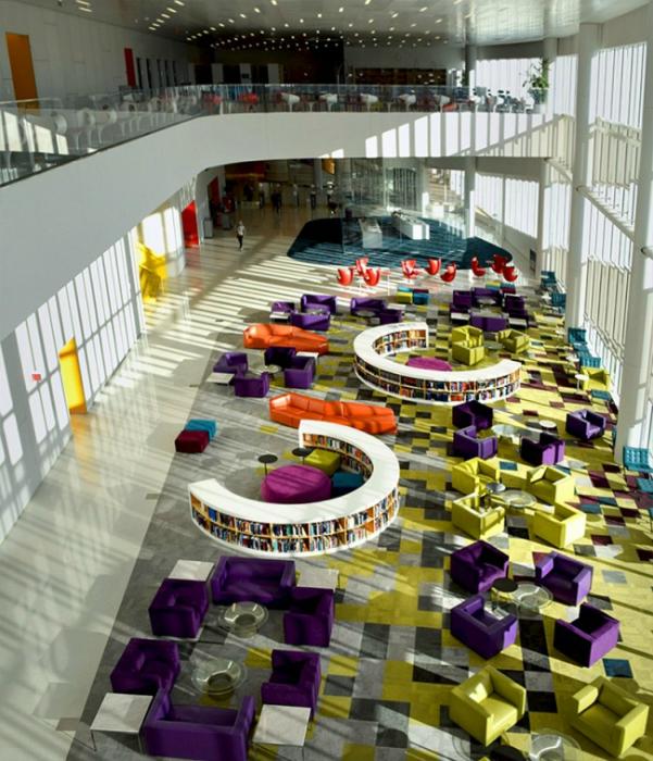 Дизайн школьной библиотеки.