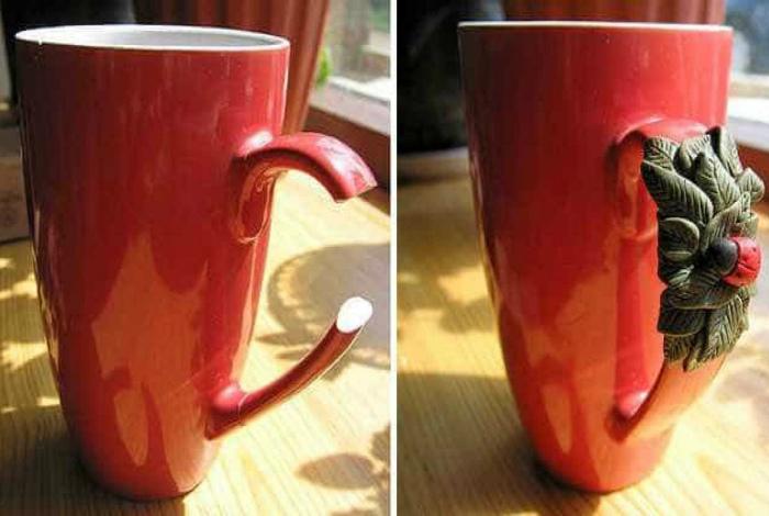 Ремонт чашки.