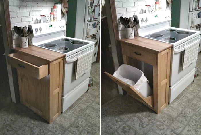 Шкафчик для мусорного ведра.