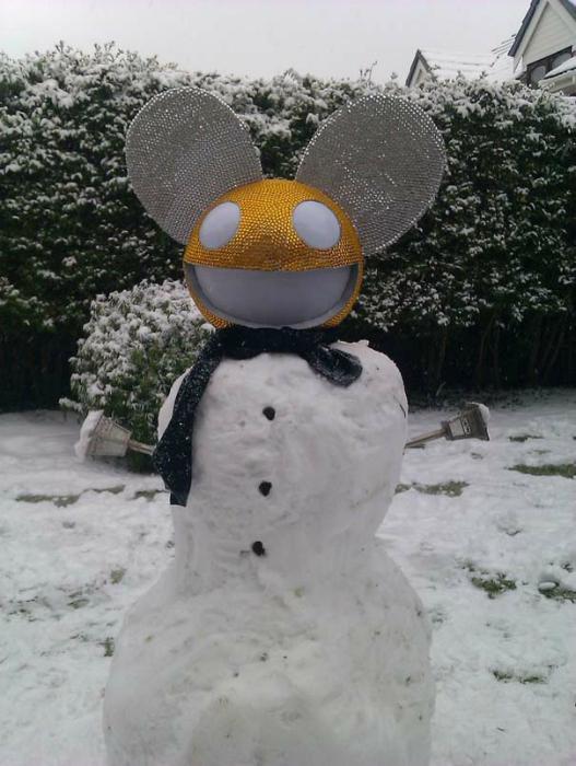 Гламурный снеговик.