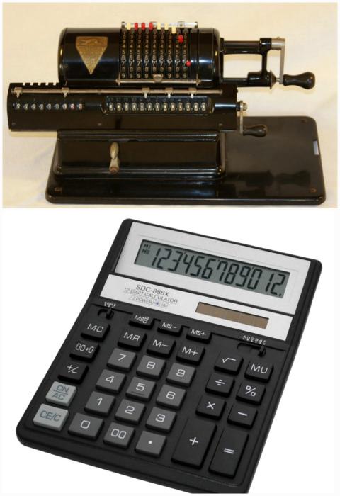 Калькулятор в прошлом и в настоящем.