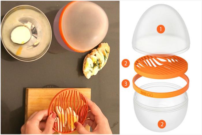 Многофункциональное устройство для работы с яйцами.