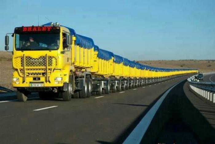 tren de carretera de Australia.