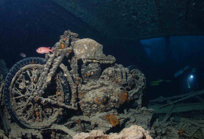 Последнее пристанище сухогруза «Тистлегорм» в Красном море.