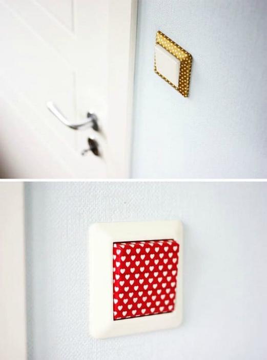 Декор выключателя.