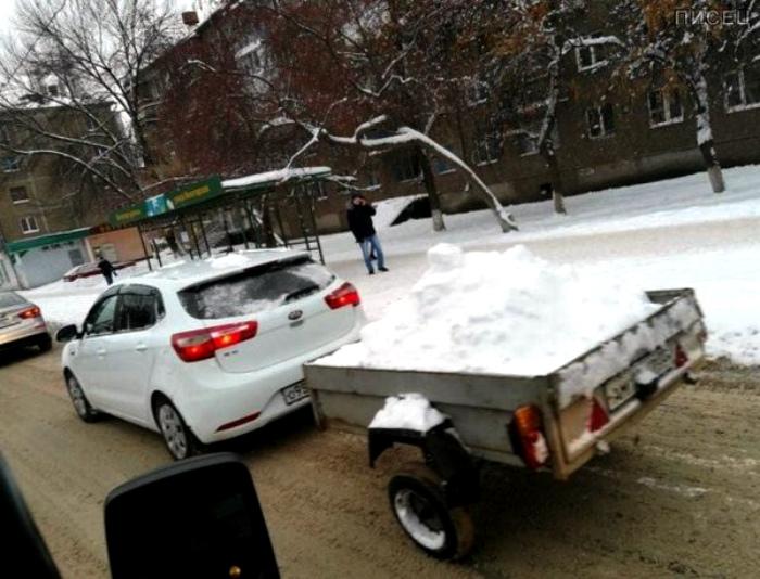 Снег с доставкой.