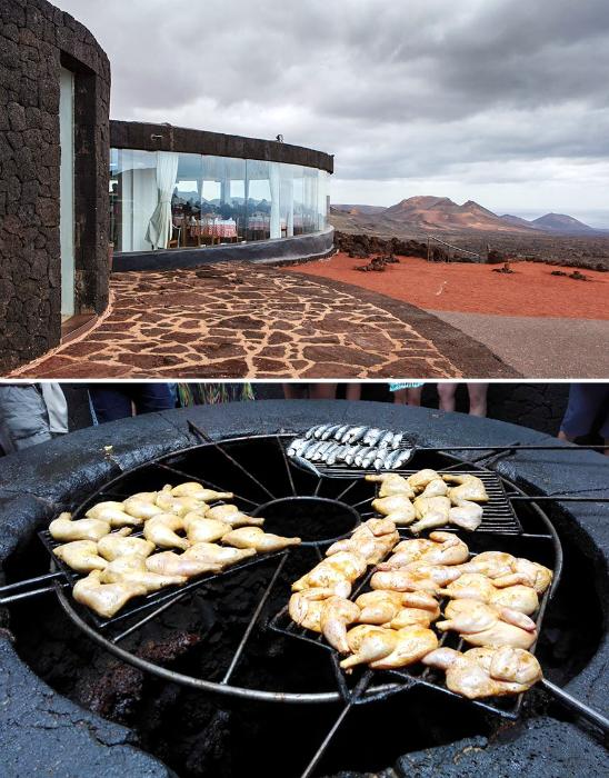 Ресторан на вулкане.
