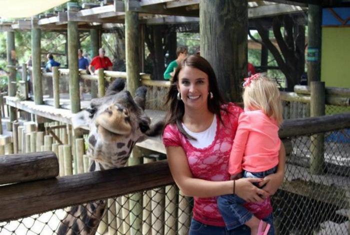 Фотогеничный жираф.