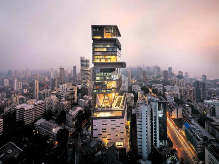 Цена: миллиарда. В центре Мумбаи находится дом, названный в честь мифического Атлантического острова Антиллия.