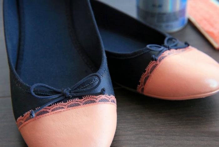 Балетки с яркими носками. | Фото: Pinterest.