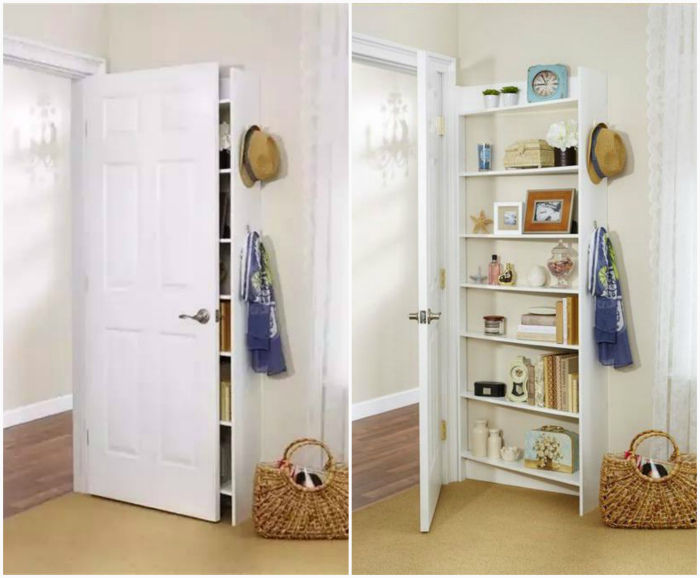 Узкий стеллаж за дверью. | Фото: sohu.com, Постила.