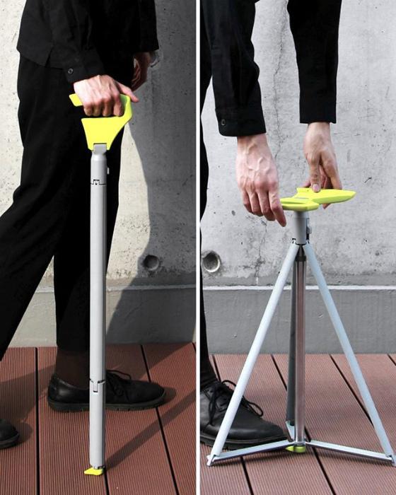 Раскладная трость-стульчик. | Фото: Abava.net.