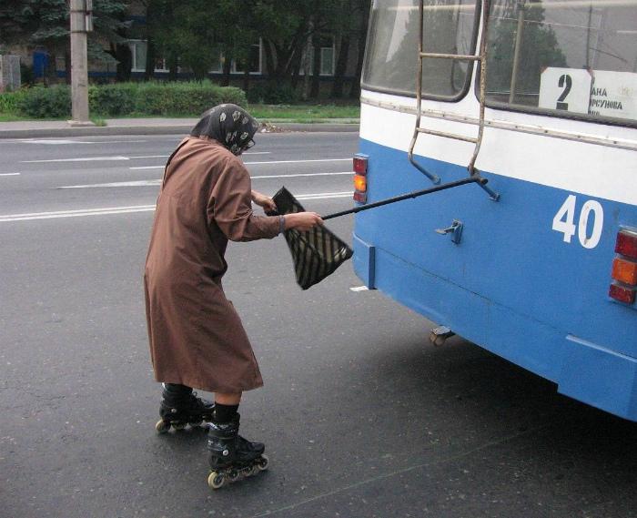 Бабушка-экстремалка.