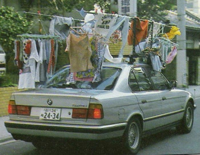 Автомобильная сушилка для белья.