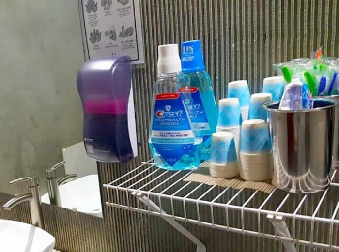 Гигиеничные наборы для гостей. | Фото: Путешули.