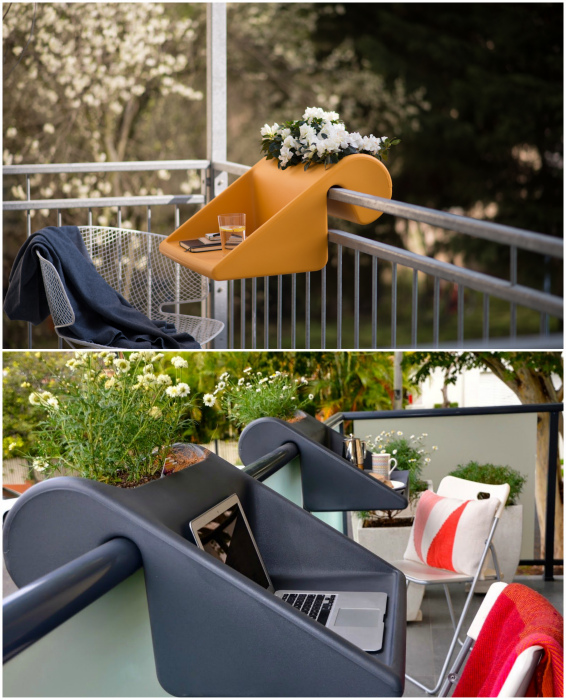 Подвесной стол-полка. | Фото: Pinterest, Kirkland Style.