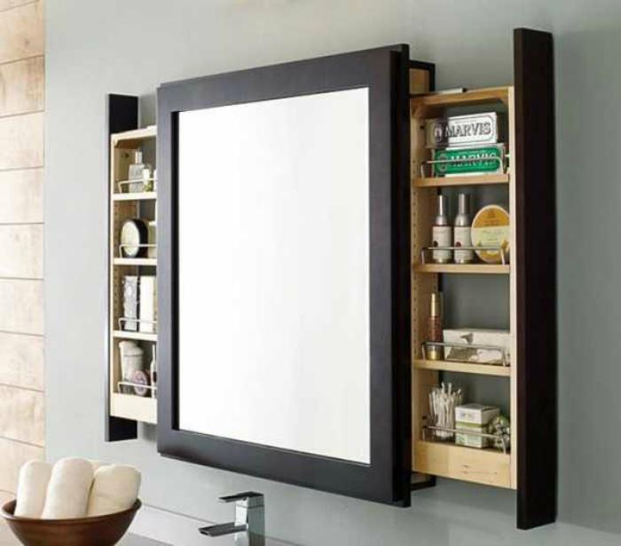 Зеркало со скрытыми шкафчиками. | Фото: departmentdesign.