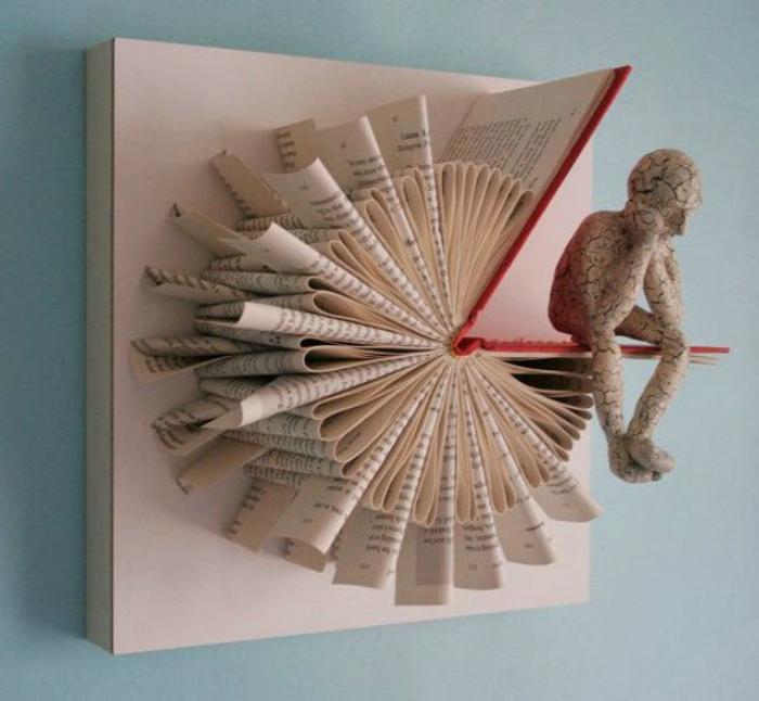 Инсталляция из книги.