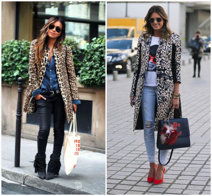 Образы с леопардовым пальто.