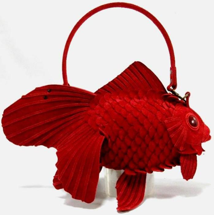 Сумка «Золотая рыбка» от Atelier Iwakiri.