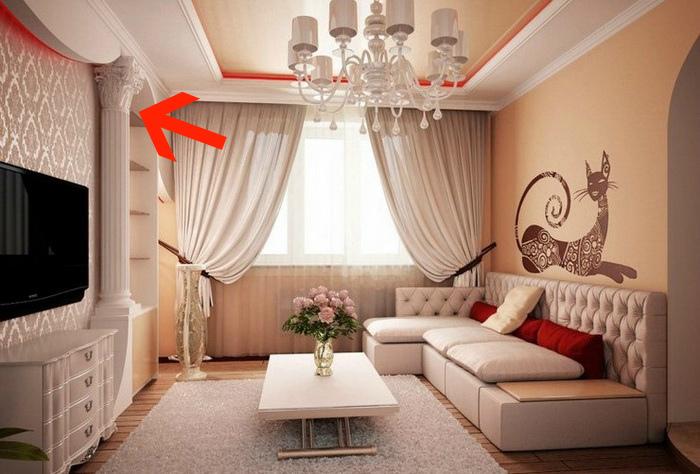 Колонны, лепнина и атрибуты стиля барокко.