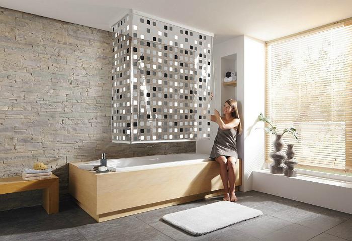 Рулонные шторы для ванны.