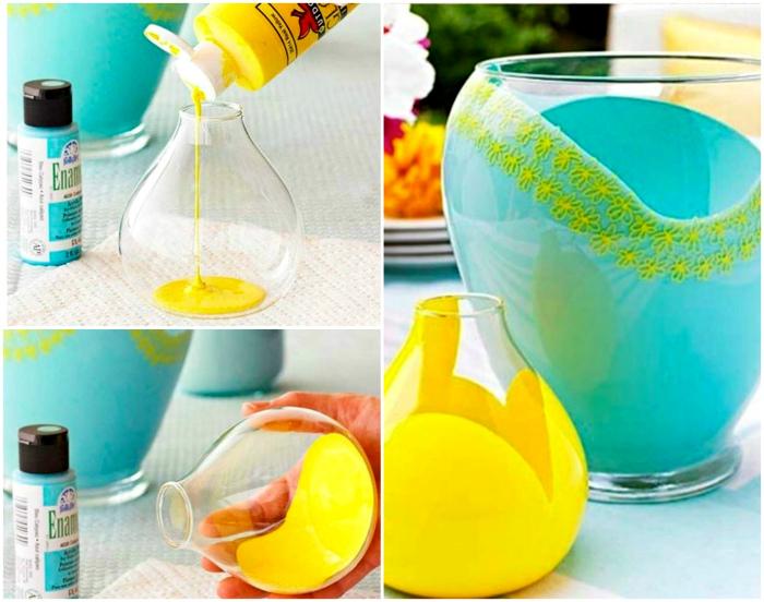 Декор стеклянных ваз.