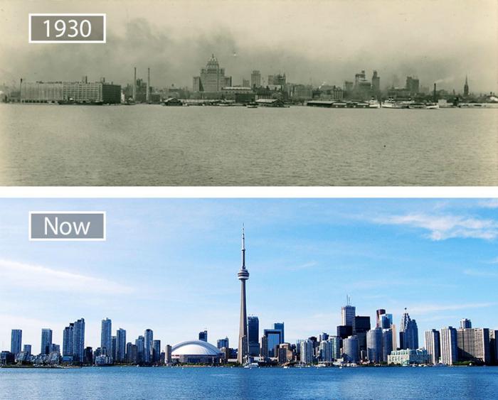 Торонто в 30-х годах и теперь.