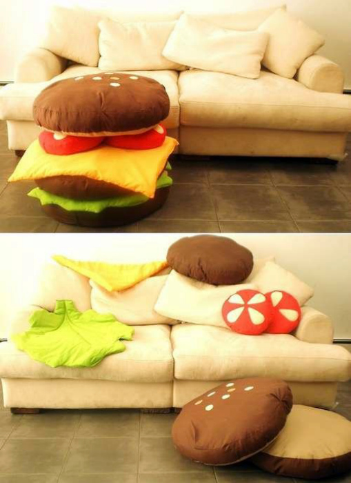 Набор подушек «Бургер». | Фото: Одноклассники.